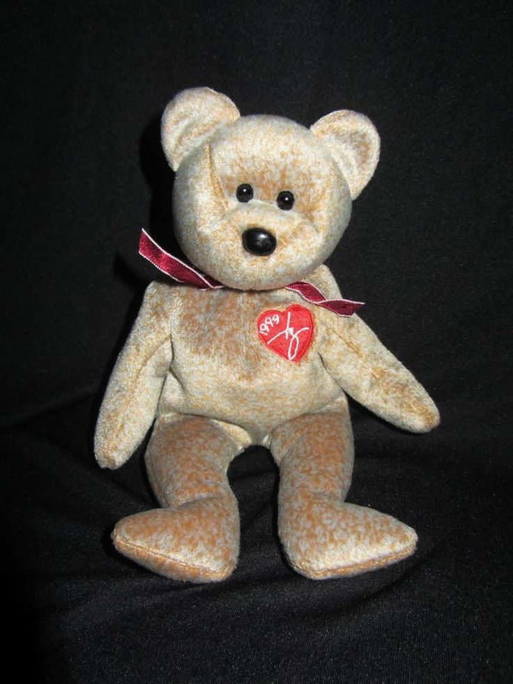 Rare 1999 Signature Bear Ty teddy bear,beanie baby, collectible, gently used  #Ty