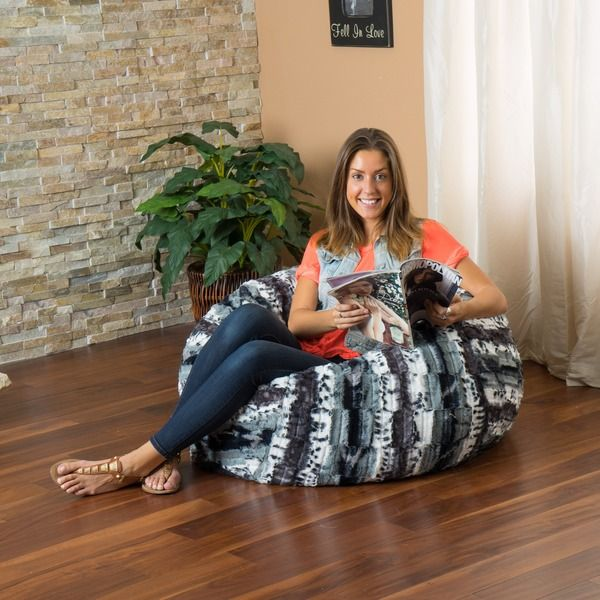 Christopher Knight Home Riley Faux Suede 3-foot Zebra Lounge Beanbag Chair
