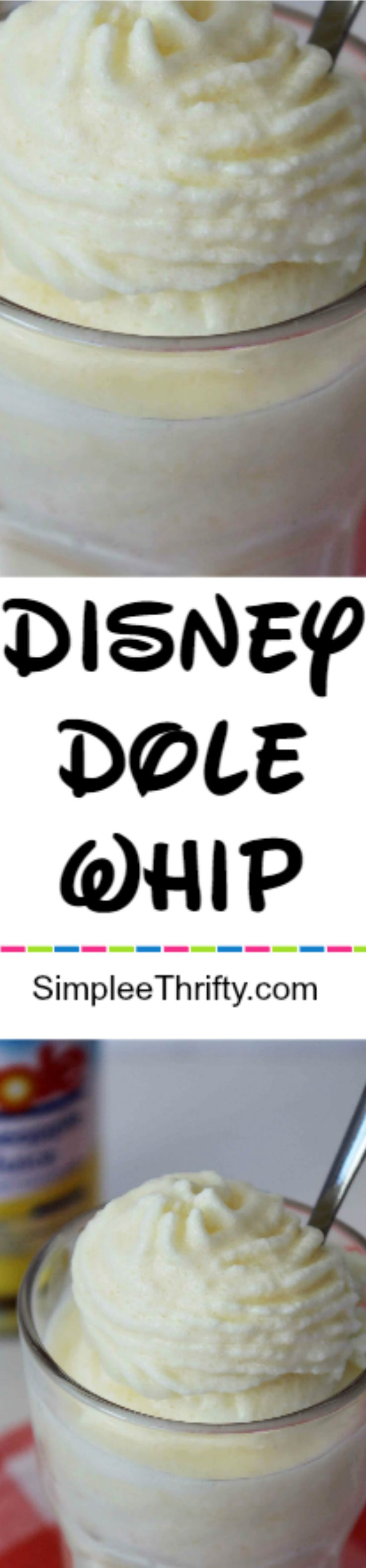 Get this delicious Copycat Disney Dole Pineapple Whip right at home! Great way to save on this very popular Disney treat!