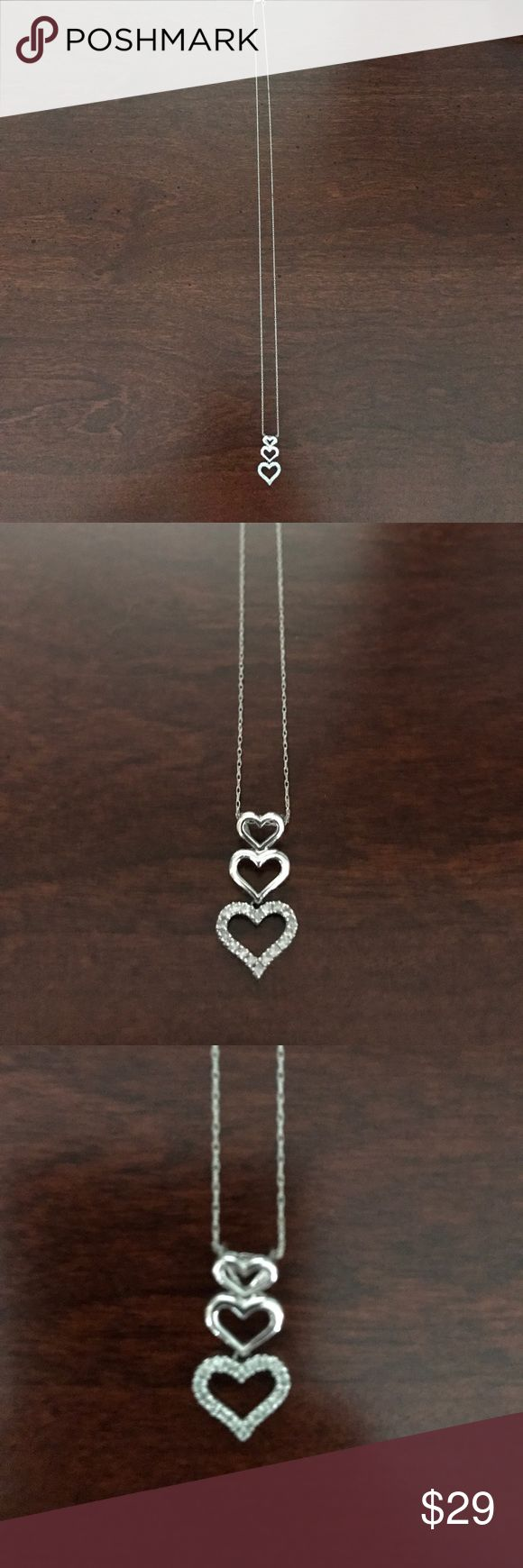 Three tier heart diamond necklace Thee tier diamond heart necklace from Kay Jeweler Kay Jewelers Jewelry Necklaces