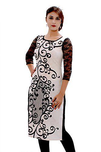 Kurti Colour:Black & White Kurti Fabric:Cotton Kurti Sleeves:3/4th Sleeves