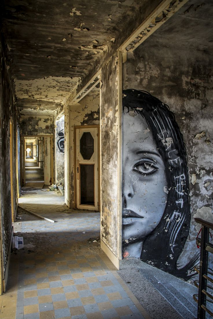 Photograph Untitled by Florian Delalée on 500px. Abandoned asylum.                                                                                                                                                                                 More
