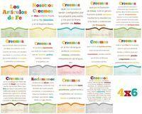 Articles of Faith Printable- Spanish Bulletin board Articulos de Fe - Espanol Primaria Biblioteca -