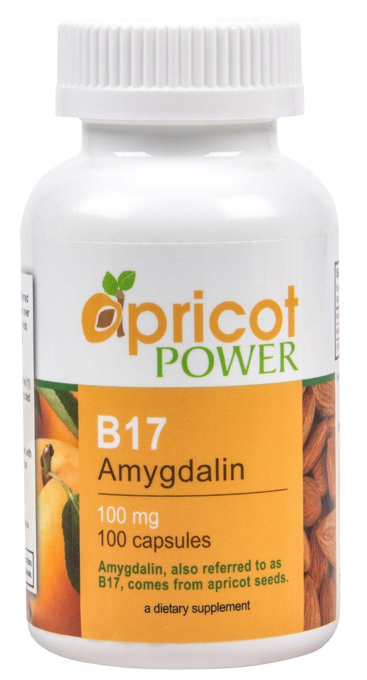 B17 amygdalin 100mg 100 caps apricot power apricot