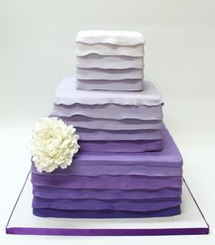 Purple Ombre Cake in Buttercream - Lulu Cake Boutique in Scarsdale, New York. www.everythinglulu.com