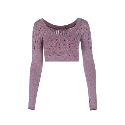 Ease Your Aura Long Sleeve Knitted Crop (Free Shipping)