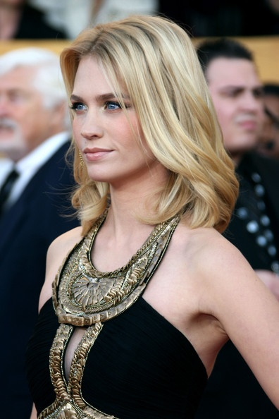 january jones- love her friendly persona and quiet questioning of everything. I get this woman.