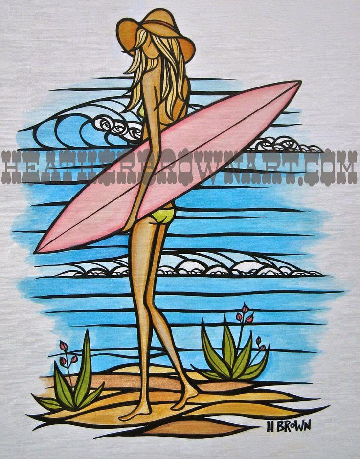 Surf Art by Heather Brown HeatherBrownArt.com
