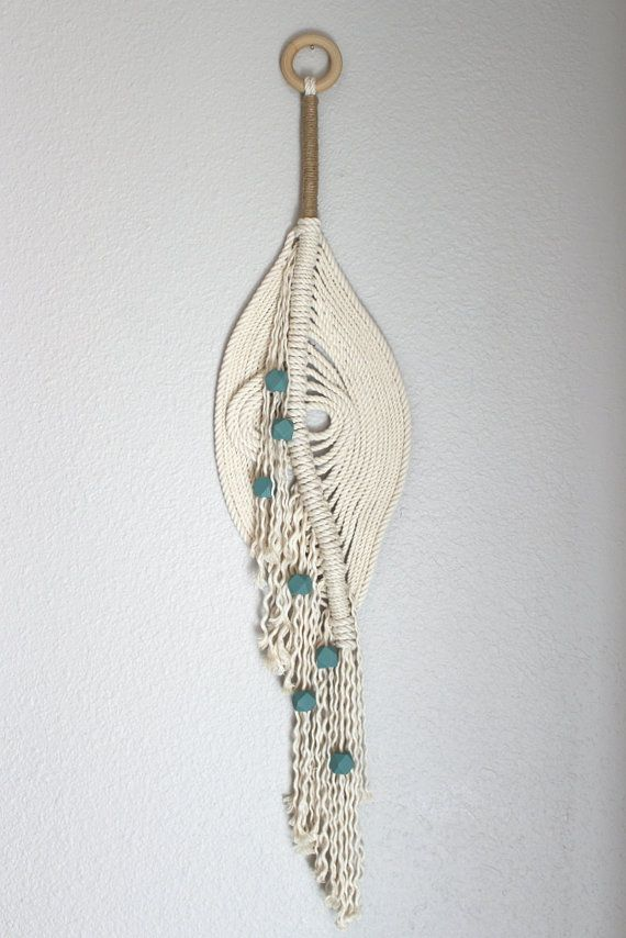 """Sale! Macrame Wall Hanging """"The pond no.12"""" by HIMO ART, One of a kind…"""