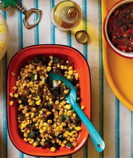 Sautéed Corn and Poblanos