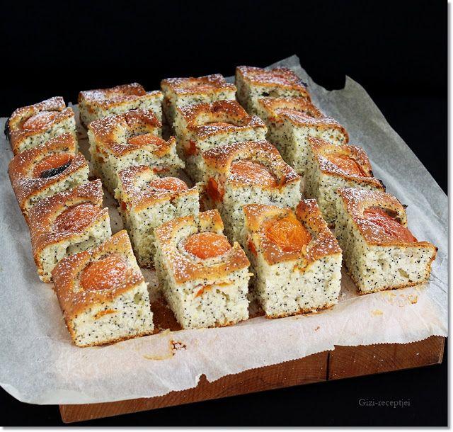 Gizi-receptjei.  Várok mindenkit.: Sárgabarackos-mákos pite.