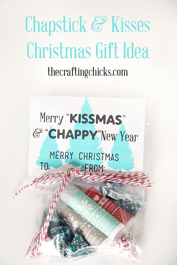 Chapstick & Kisses Christmas Gift Idea