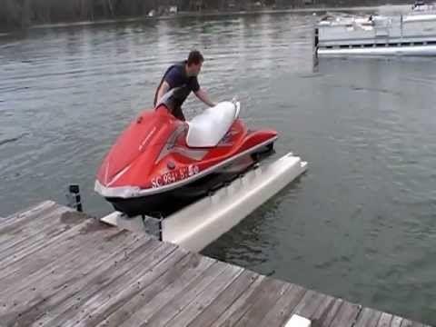 PWC Dock - Wheely Dock LS - Jet Ski Float - carolinafloats - YouTube