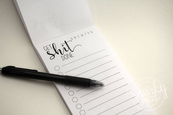 Get Shit Done Notepad  to do list  to do list notepad by AlvaLumos