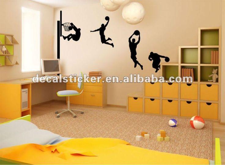 Jugador de baloncesto diseño de arte de la pared de vinilo calcomanía& etiqueta-Adhesivos-Identificación del producto:591132800-spanish.alibaba.com