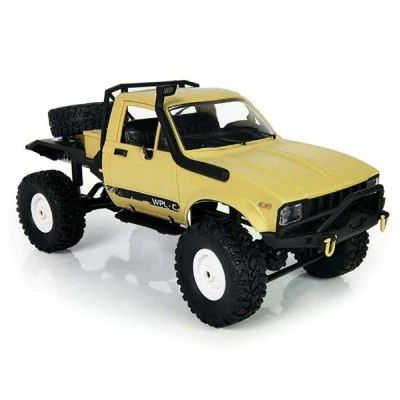 WPL C14  - $33.99 (coupon: GBFEB004) 1:16 2.4G 2CH 4WD Mini Off-road RC Semi-truck  KIT YELLOW Metal Chassis / TPR Tires / 15km/h Top Speed  #WPL, #RC, #Military, #Truck, #машинка, #радиоуправляемая, #gearbest, #игрушка   9176