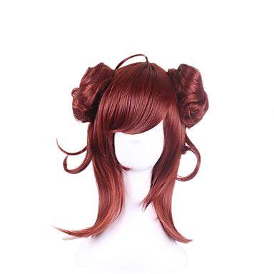 mode européenne et américaine gradient violet faux incliné liu lodge Haiyuan cos perruque 28 pouces de long cheveux bouclés de 5540037 2017 à €16.22