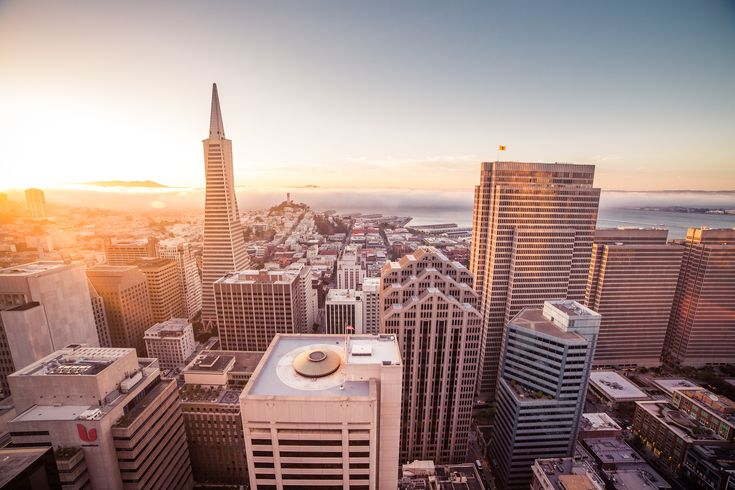 Sunset Over the Skyscrapers in San Francisco  ➤ DOWNLOAD by click on the picture ➤ #Architecture #BayArea #Buildings #California #City, #CoitTower #Evening #FinancialDistrict #Fog #Foggy #Roofs #Rush #SanFrancisco #SfBay #Sky #Skyline #Skyscrapers #Streets #Sunset #Usa #freestockphotos #picjumbo