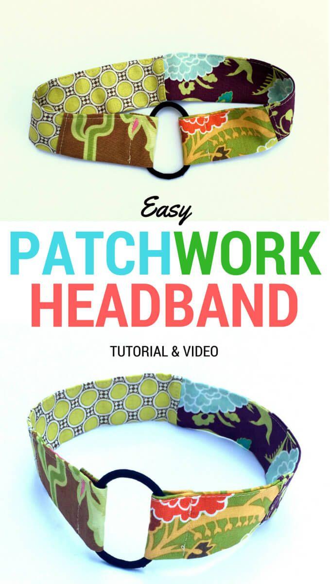 Easy Patchwork Headband Tutorial made with a pony-O. Plus video!!   DIY Crush