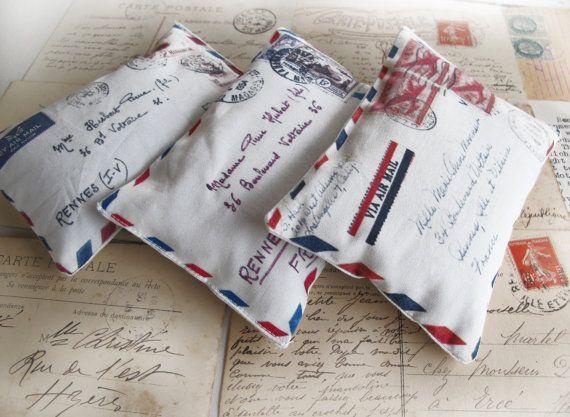Air mail pillows