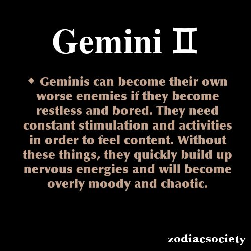 zodiacsociety:  Gemini Zodiac Facts
