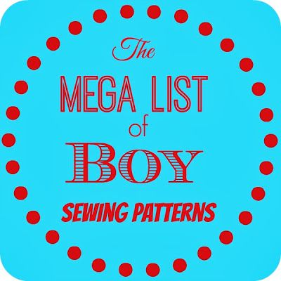 Mega List of Boy PDF Sewing Patterns