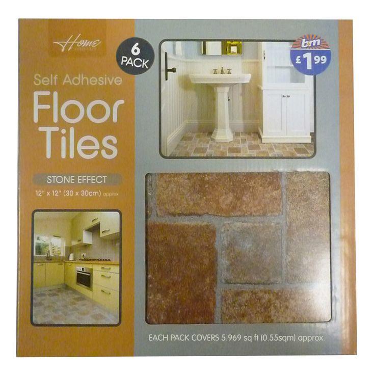 Terracotta Vinyl Tiles - self adhesive floor tiles - Stone Effect