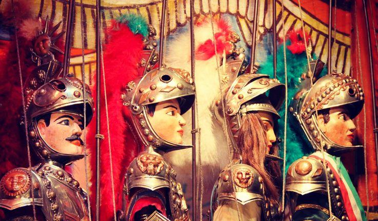 I Pupi Siciliani - Sicilian marionettes.  These guys are so cool!