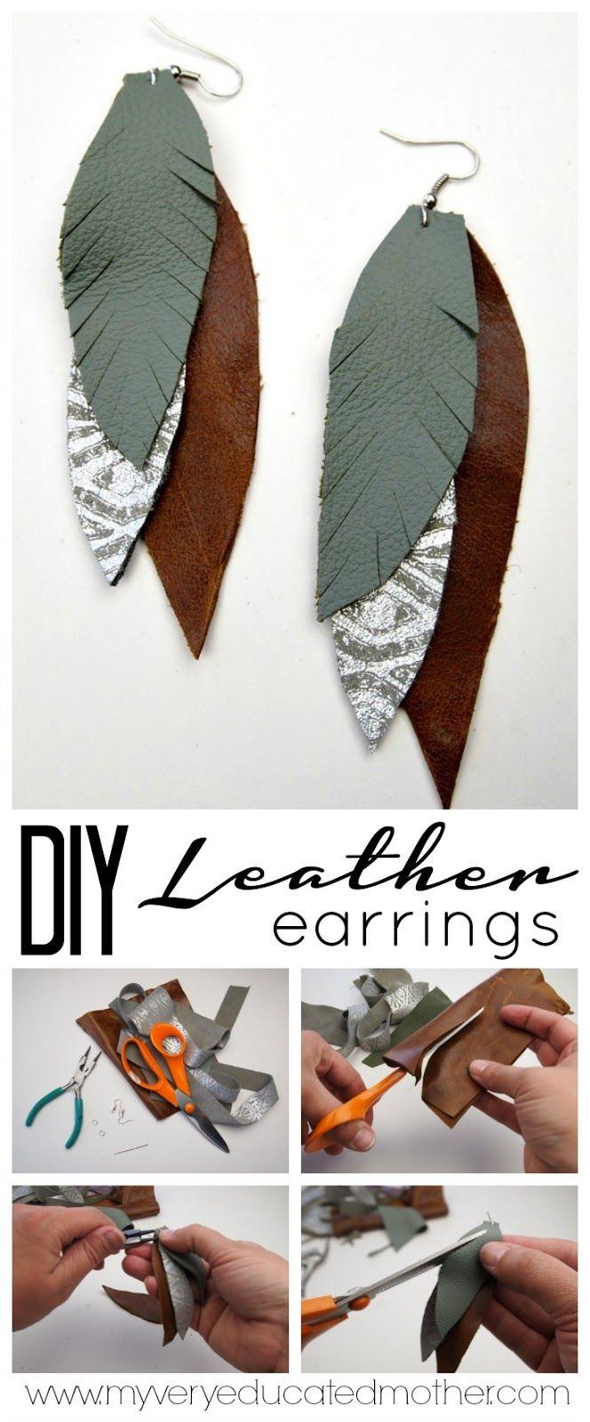 best 25+ diy leather feather earrings ideas on pinterest | diy