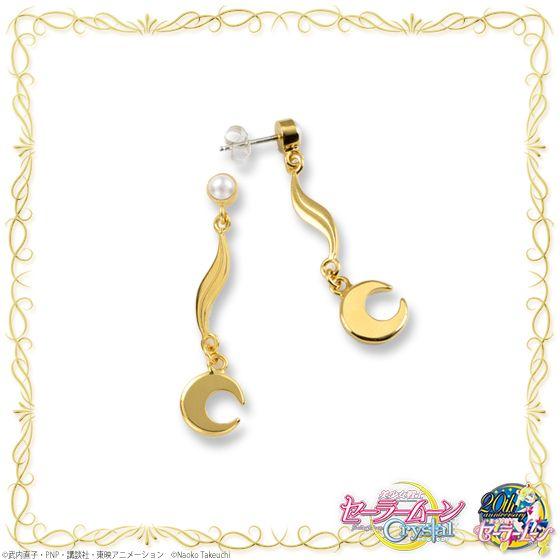 """sailor moon"" ""sailor moon crystal"" ""sailor moon merchandise"" ""sailor moon jewelry"" ""princess serenity"" ""premium bandai"" pearl gold earrings fashion anime japan shop"