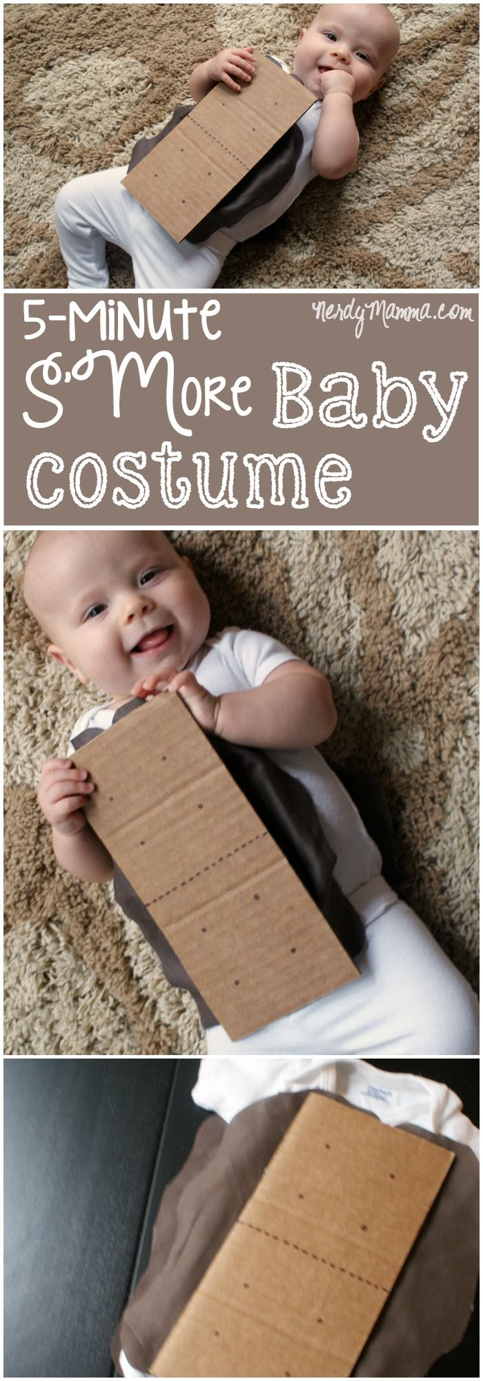 127 best costumes for baby images on pinterest baby costumes this funny diy smore baby costume is so cute and so easy solutioingenieria Choice Image