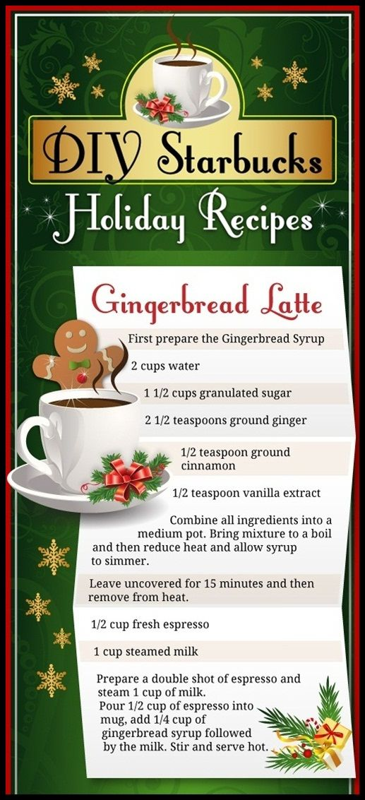 DIY – Gingerbread Latte - aka: my happy place It's an inconvenient time to have run out of Starbucks gift cards...