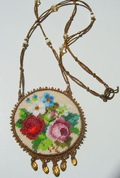 """Кулоны, подвески ручной работы. Ярмарка Мастеров - ручная работа Кулон """"Викторианские цветы"""". Handmade."""
