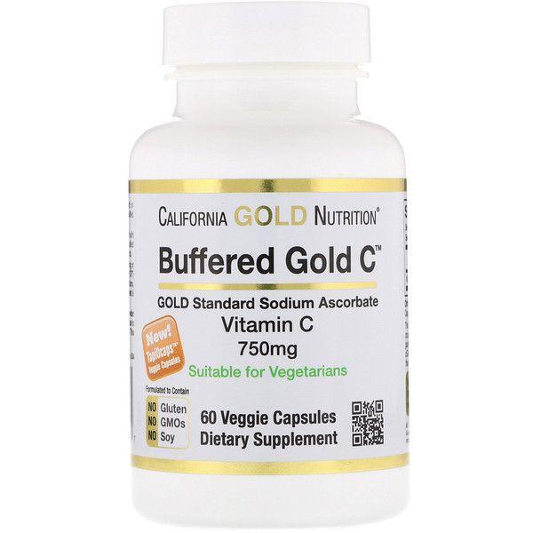 California Gold Nutrition كبسولات فيتامين جـ المخففة 750 ملجم 60 كبسولة نباتية Veggie Capsule Nutrition Vitamin C Benefits