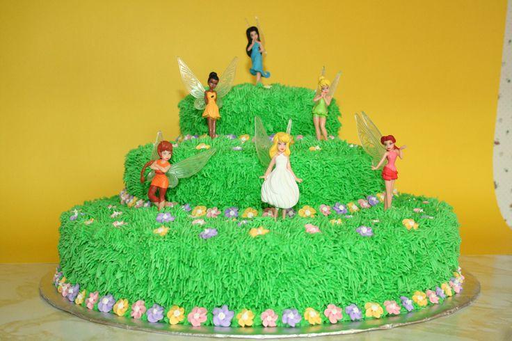 Tinkerbell cake I made for Mackenzie's 4th birthday, Jan 2010.