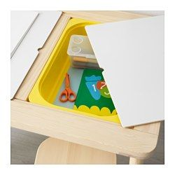 IKEA - FLISAT, Children's table, , This children's desk becomes both a practical place for arts and crafts, as well as a useful storage solution, if completed with TROFAST storage boxes in different sizes and colours.With TROFAST storage boxes underneath the lids, it's easy for your child to reach their toys – and clean up in a jiff!