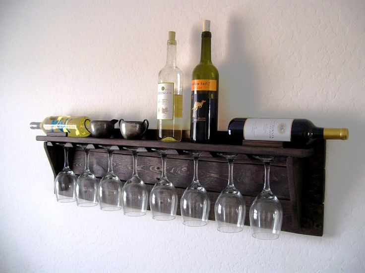 Unique Wine Rack Pallet Wood Wine Rack Dark Walnut Brown or Natural (no color) Eco Friendly by TheVineyards on Etsy https://www.etsy.com/listing/171269327/unique-wine-rack-pallet-wood-wine-rack