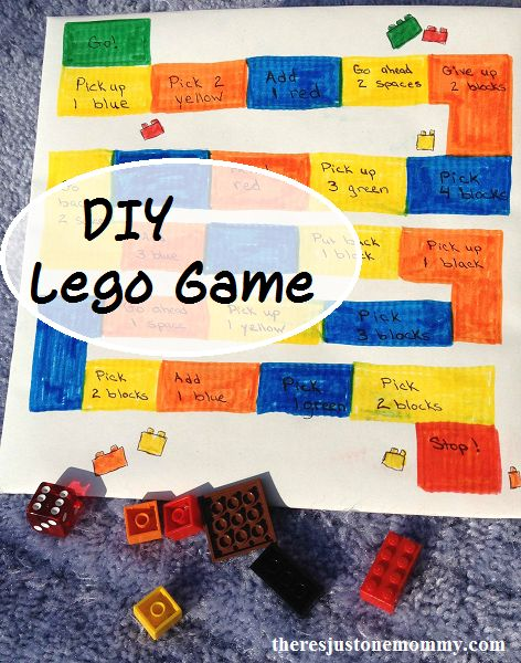 DIY Lego Board Game   There's Just One Mommy