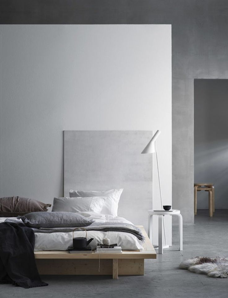 Natural bedroom styling