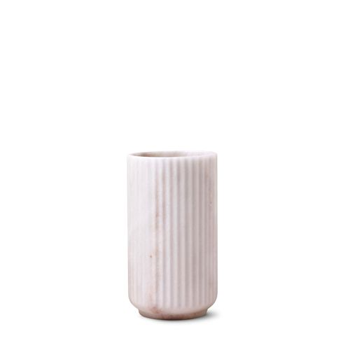 Our original anniversary Lyngby vase in white marble