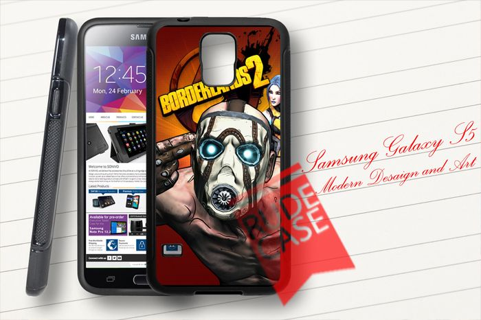 Samsung Galaxy S5 Custom Borderlands 2 Video Game Rubber Case