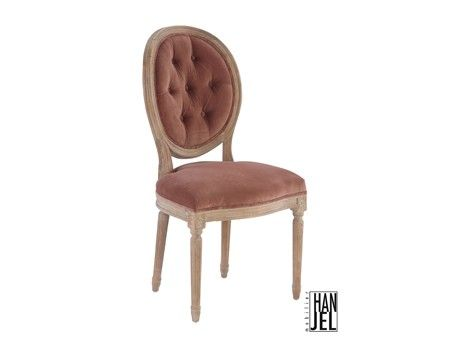 Chaise m daillon c rus velours vieux decora - Chaise medaillon velours ...