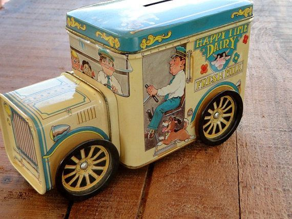 Vintage Ice Cream Truck Tin Box and Bank by rustbelttreasures, $12.00