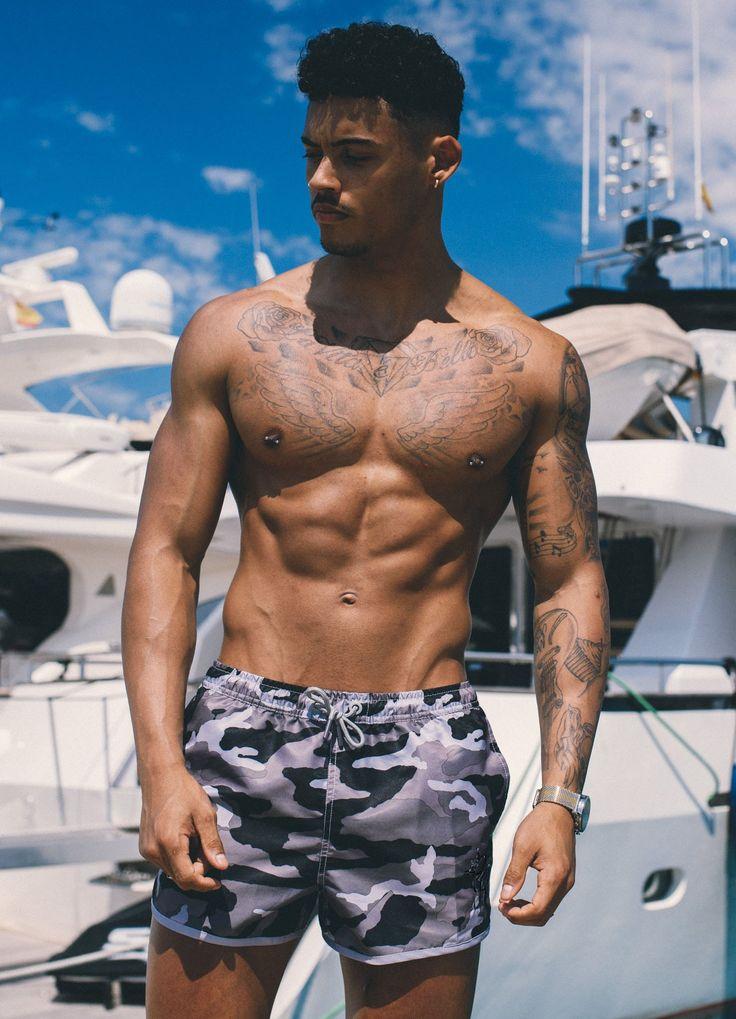 GK Swim Shorts - Slate Camo