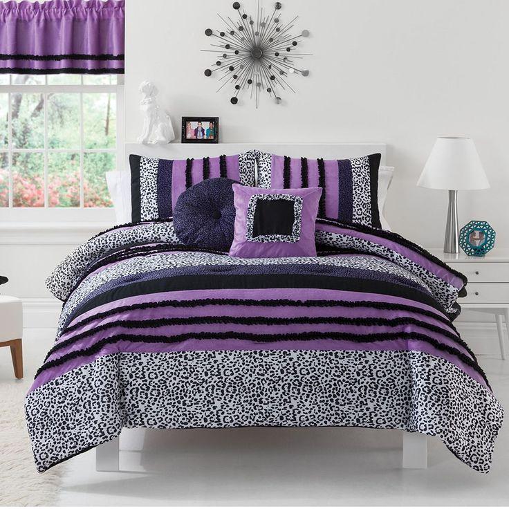 Sassy Zebra Comforter Set | teen room ideas | Pinterest ...
