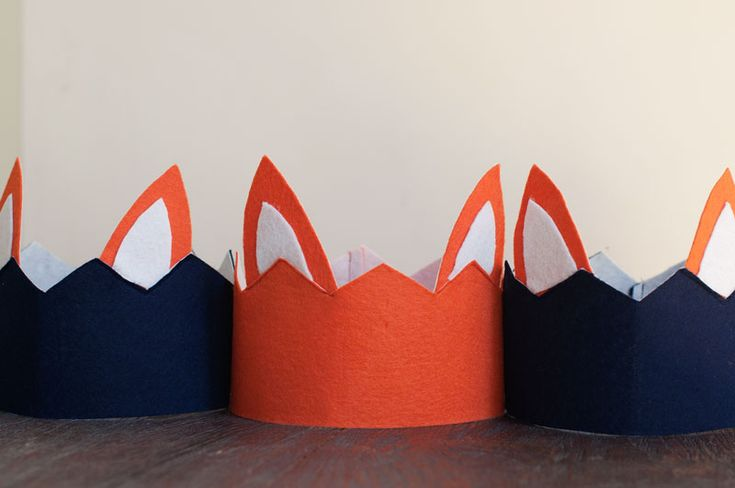 Tutorial for DIY Party Hats for Fox Party