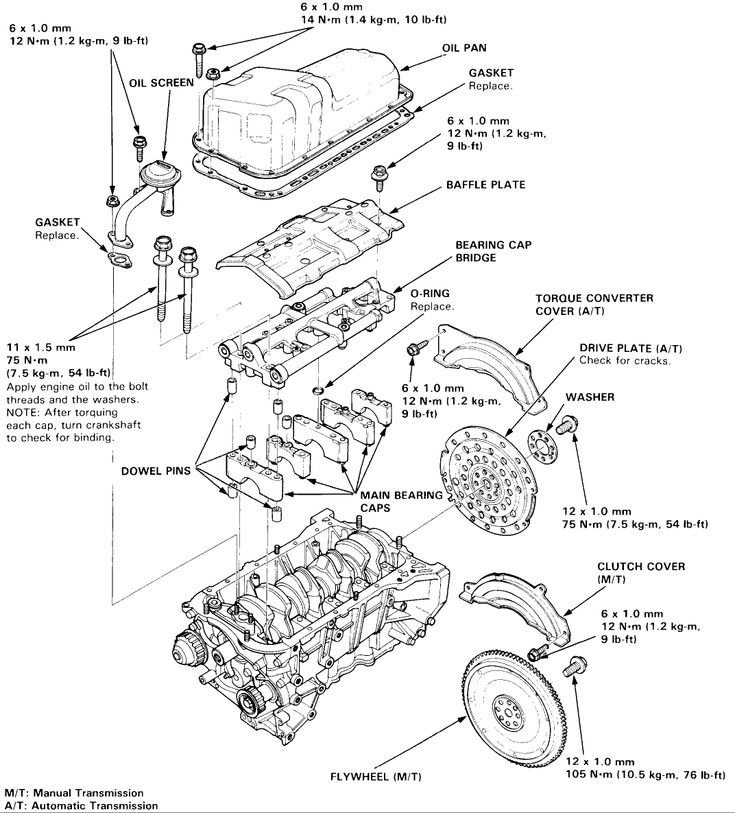 Honda H23a1 Engine Diagram