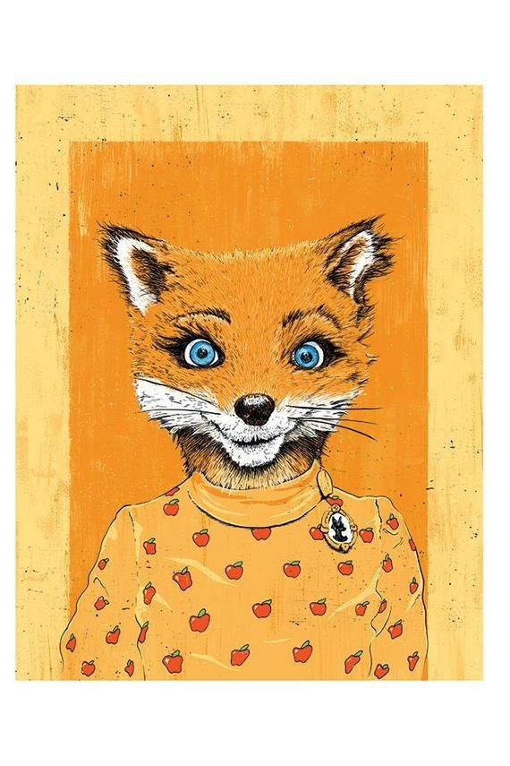 Fantastic Mr Fox S 12 Fox Years 12x18 Etsy Book Illustration Art Art Indie Art