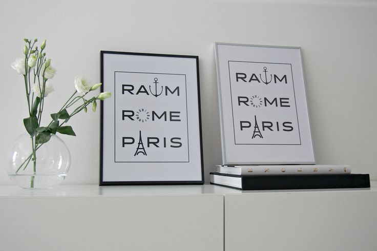 Hannas Home / RaumRomeParis print designed by Iiro Koski / Rauma Rooma Pariisi / modern black and white