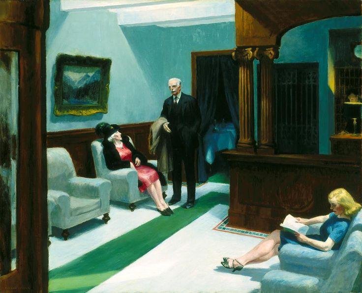 Edward Hopper, Hotel Lobby, 1943, Indianapolis Museum of Art